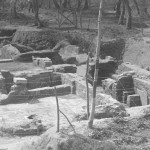 L'edificio con mosaico all'epoca del ritrovamento (1931-1932)