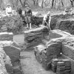 Primi scavi nell'edificio con mosaico (1931-1932)