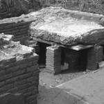 Il calidarium delle terme all'epoca del ritrovamento