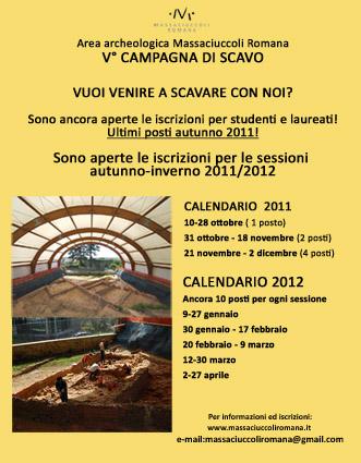 Sono ancora aperte le iscrizioni per le sessioni da ottobre 2011 ad aprile 2012