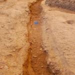 Settore 1000: il canale più recente in corso di scavo.