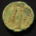 Moneta, retro, emissione imperatore Antonino Pio