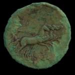 Moneta, retro (quadriga), emissione imperatore Antonino Pio