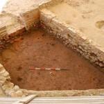 Una delle pavimentazioni in laterizi pressati all'interno del settore 3000